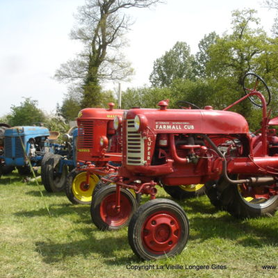 Old tractor collections exhibited
